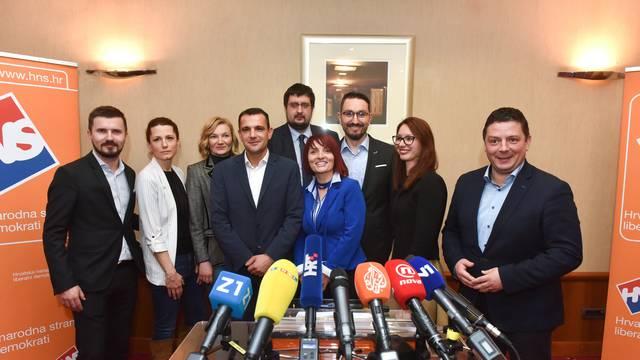 Zagreb: HNS predstavio odluku o izlasku stranke na izbore za Europski parlament