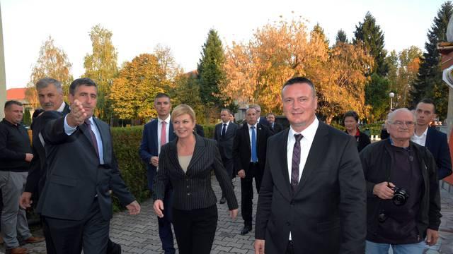 Predsjednica Kolinda Grabar Kitarović obišla Okučane
