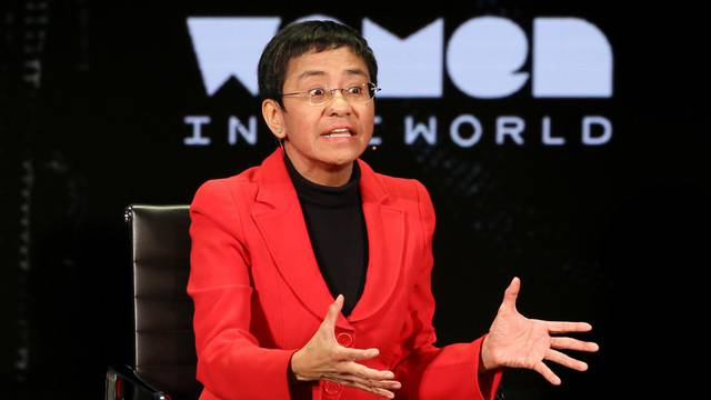 FILE PHOTO: Maria Ressa takes part in the Women In The World Summit in New York