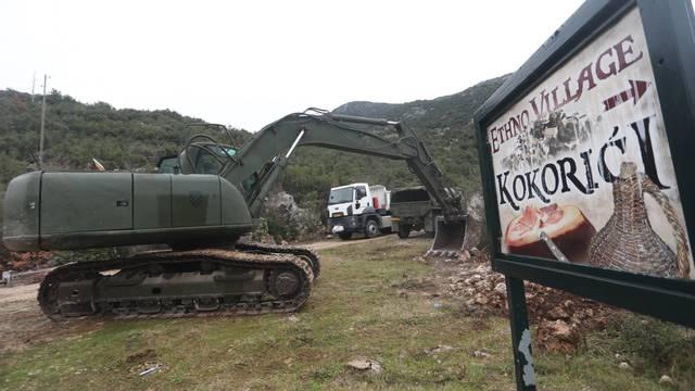 Hrvatska vojska započela s inženjerijskim radovima u Kokorićima