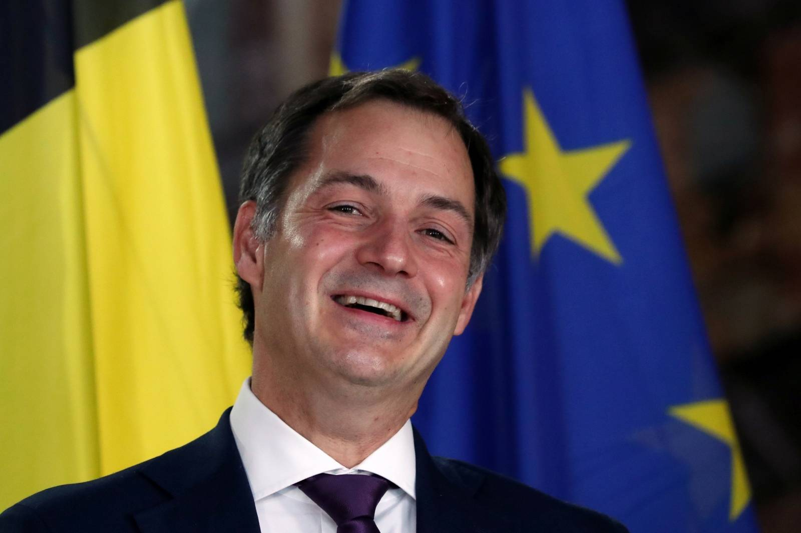 De Croo and Magnette hold news conference in Brussels