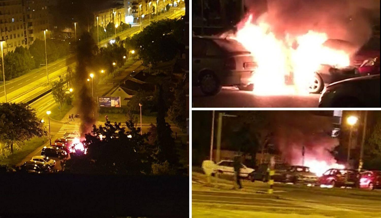 U Zagrebu gorjeli auti: Zapalila se tri auta blizu centra Point
