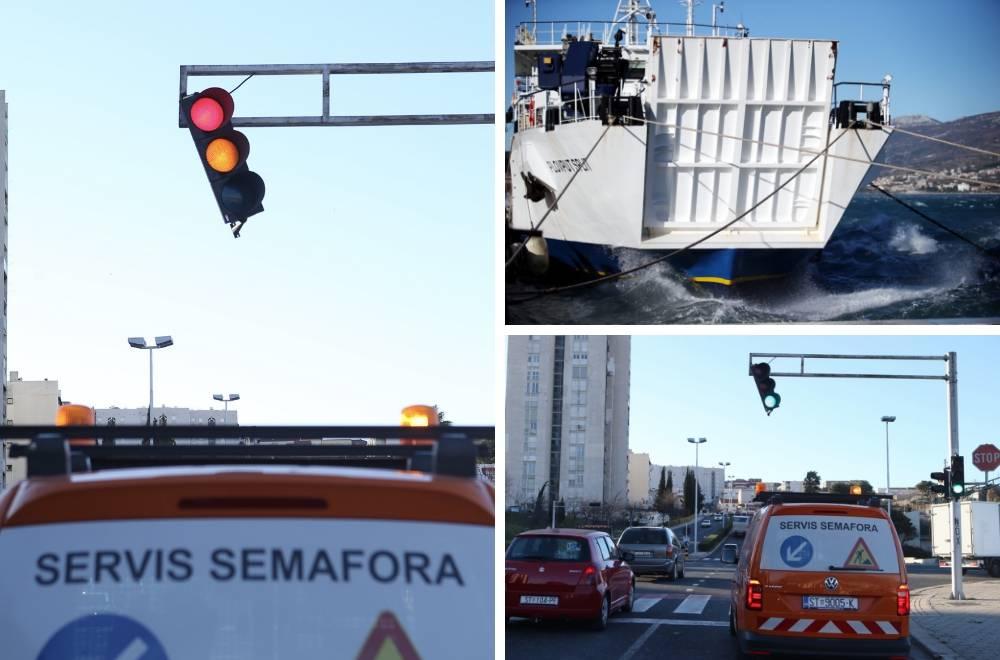 Bura u Splitu ruši stupove i semafore, zatvoren je i dio A1