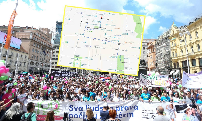 Hod za život: Evo koje će ulice u Zagrebu biti pod blokadom...