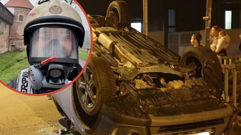 Heroj u Zagrebu spasio čovjeka iz prevrnutog auta: 'Rezao sam pojas. Nisam razmišljao ni tren'
