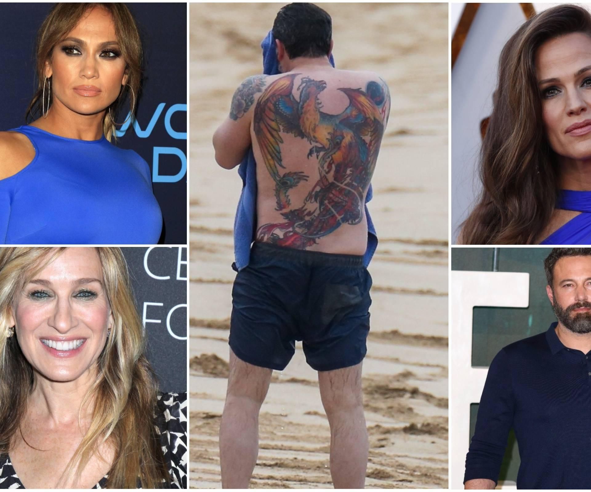 Affleckovoj golemoj tetovaži rugaju se i njegove bivše cure