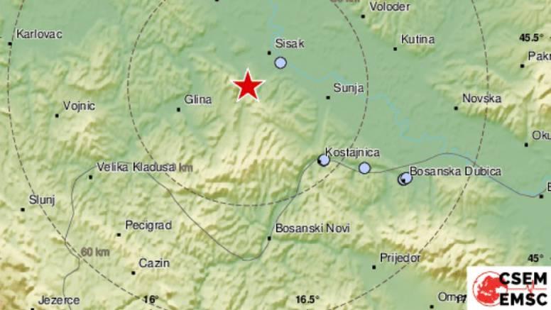 Potres 2.2 nedaleko od Siska