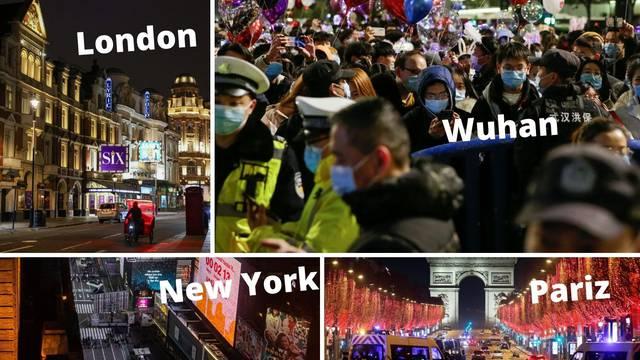 U Wuhanu - stiskavac, a ostatak svijeta pod zabranama: Policija, ograde, prazne ulice metropola