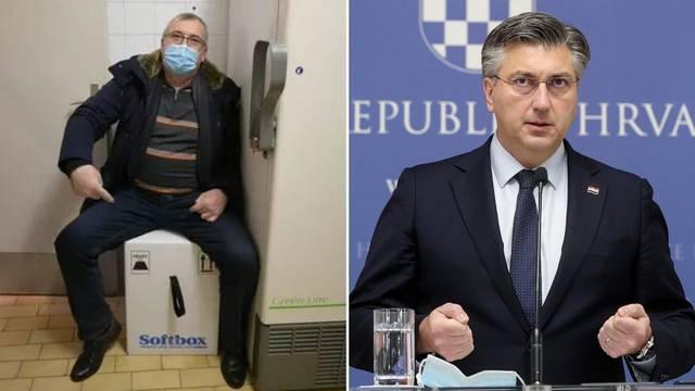 Premijer komentirao Capakovo sjedenje na kutiji: Bila je subota i ljudi nisu imali što raditi...