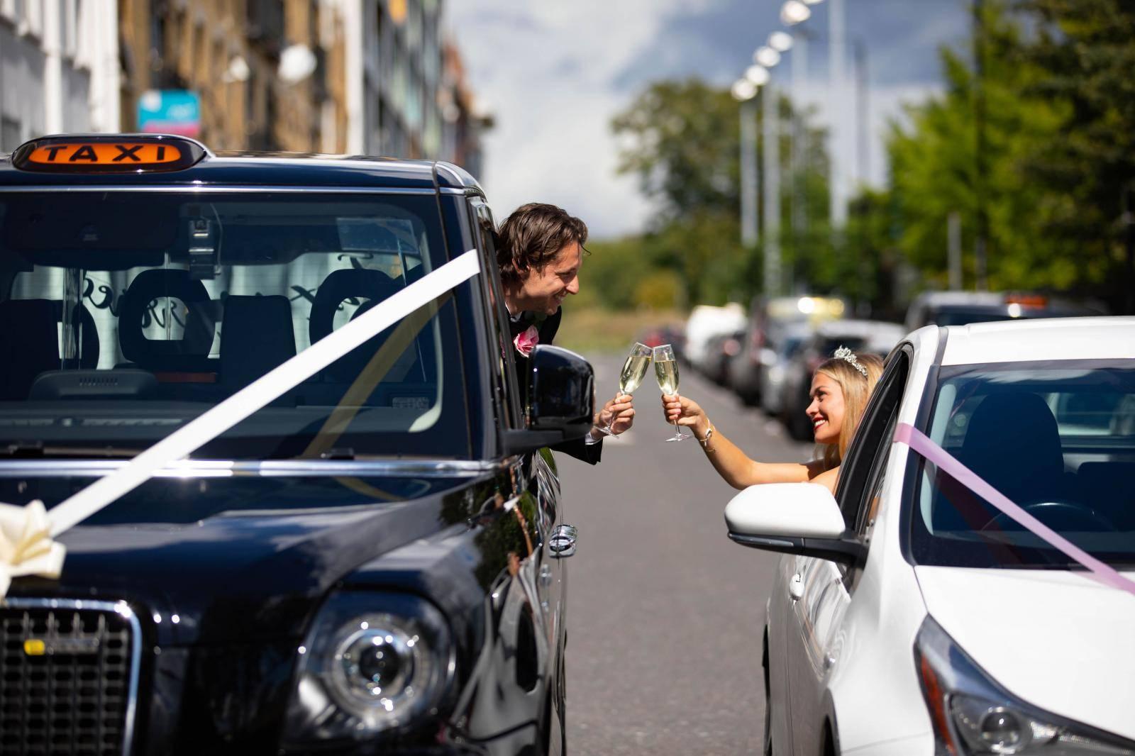UK's first drive-through wedding service