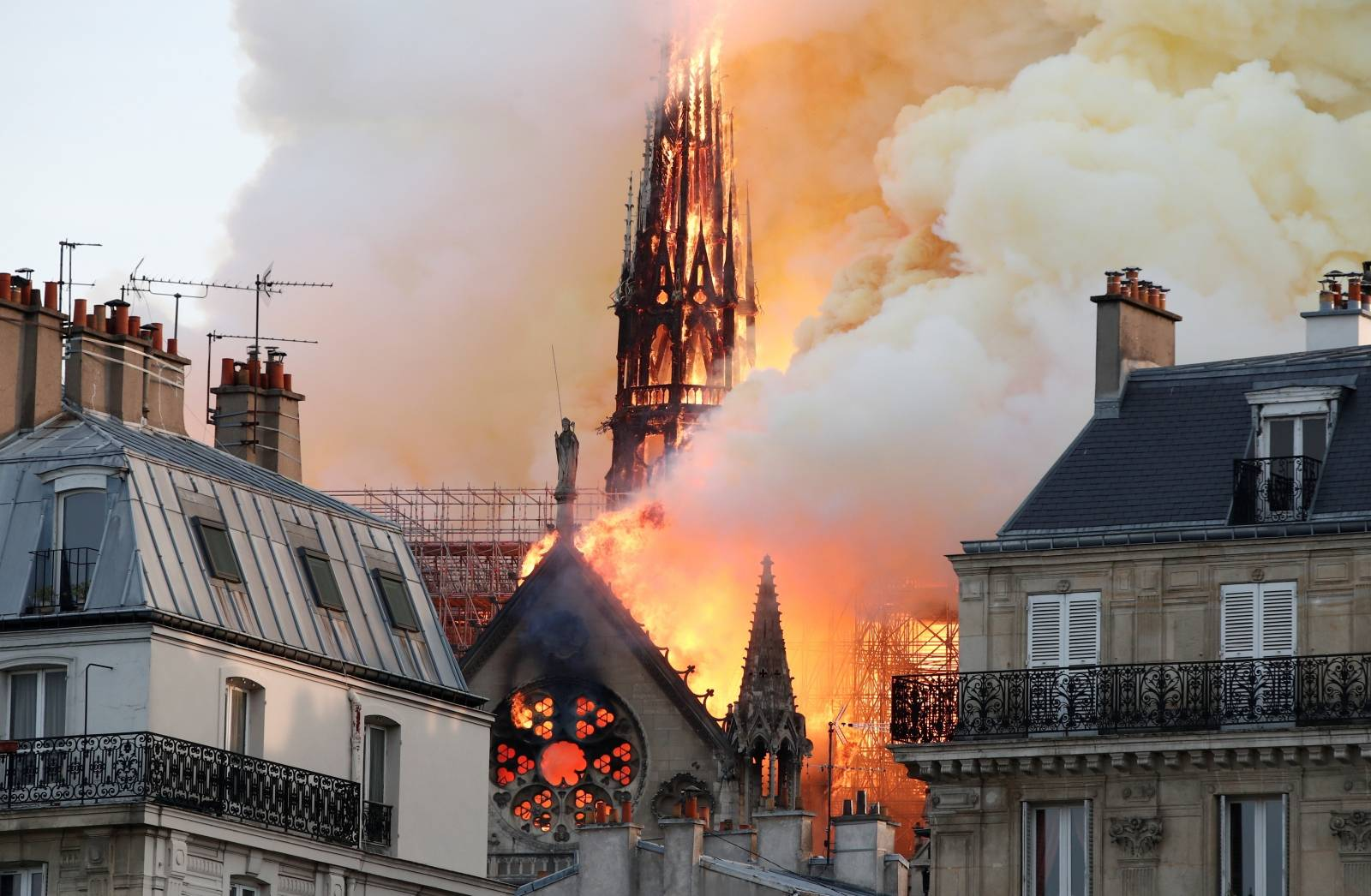 Fire at Notre Dame Cathedral in Paris