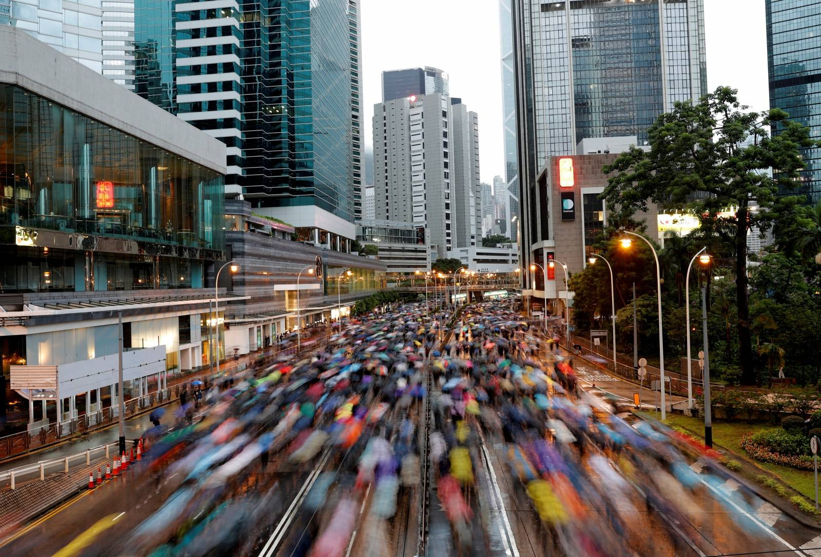 People march during a rally to demand democracy and political reforms in Hong Kong
