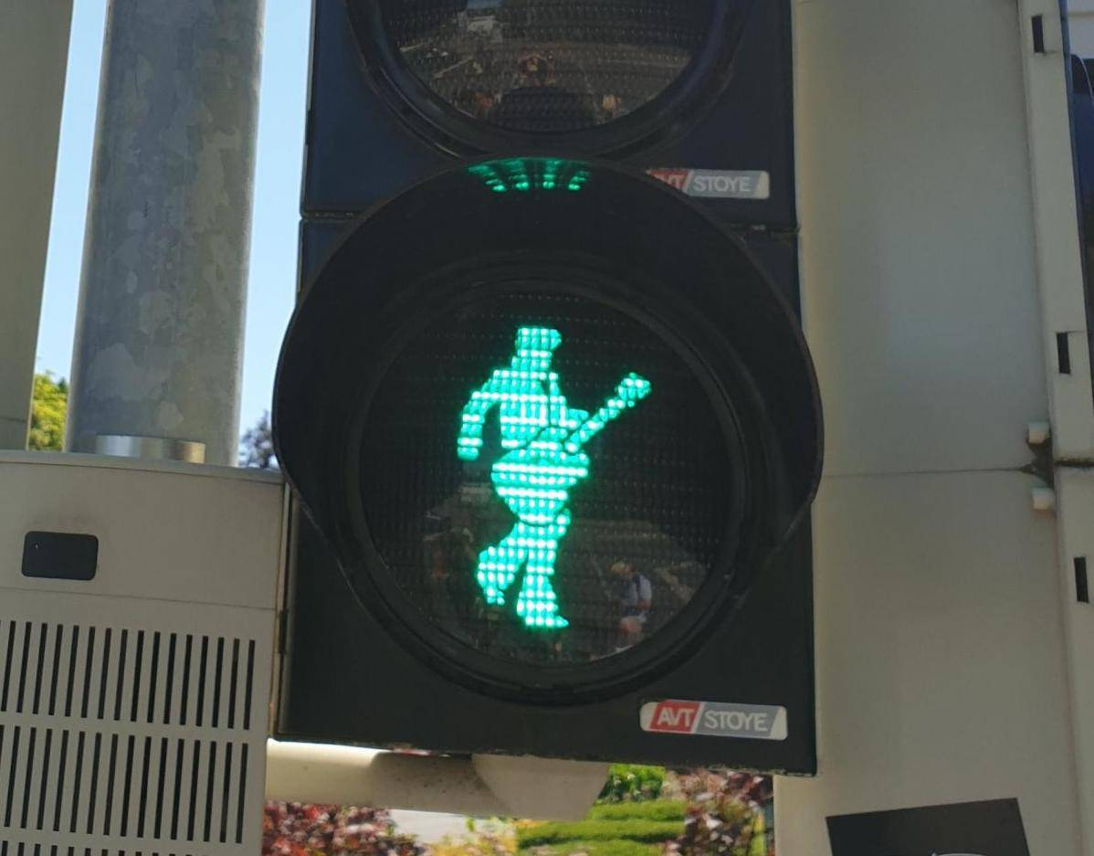 Elvis traffic light in Bad Nauheim