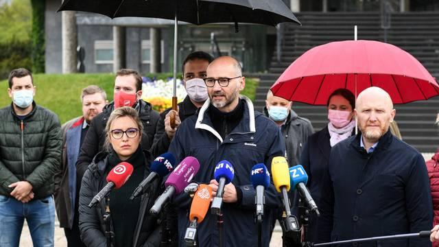 Konferencija za medije kandidata za zagrebačkog gradončelnika Joška Klisovića