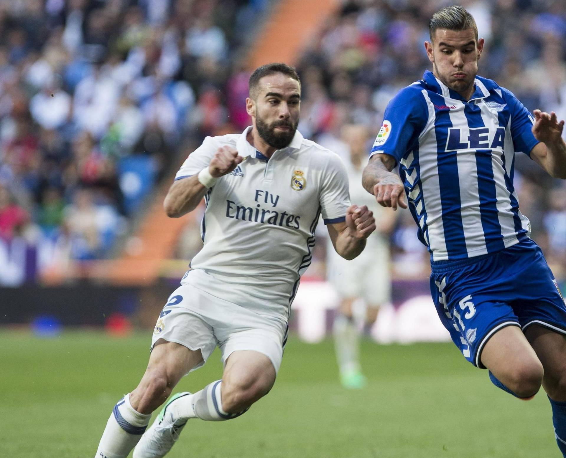 La Liga between Real Madrid and Deportivo Alaves at Bernabeu Stadium Stadium