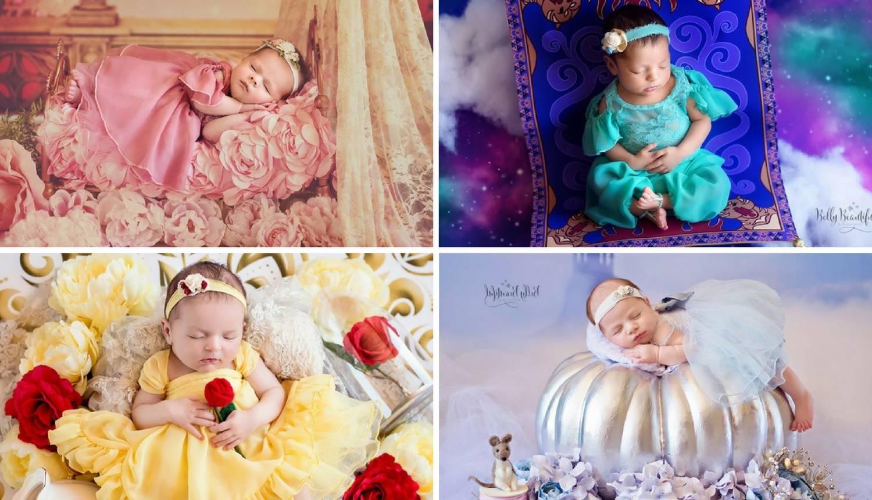 Male bebe na njenim fotkama postaju slatke princeze iz bajki