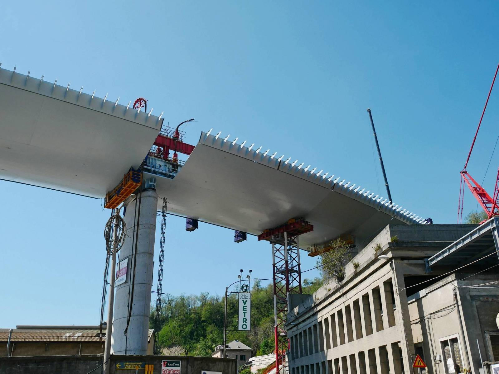 New Genoa shipyard, Ex Morandi, the new bridge over Corso Perrone that connects to the highway