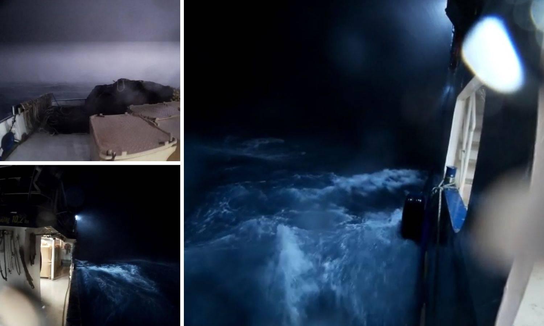 Snimka s broda otkriva kako je izgledalo nevrijeme kod Pule