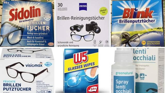 Analiza sredstava za čišćenje ekrana: Mrlje na naočalama mogu biti podloga za bakterije
