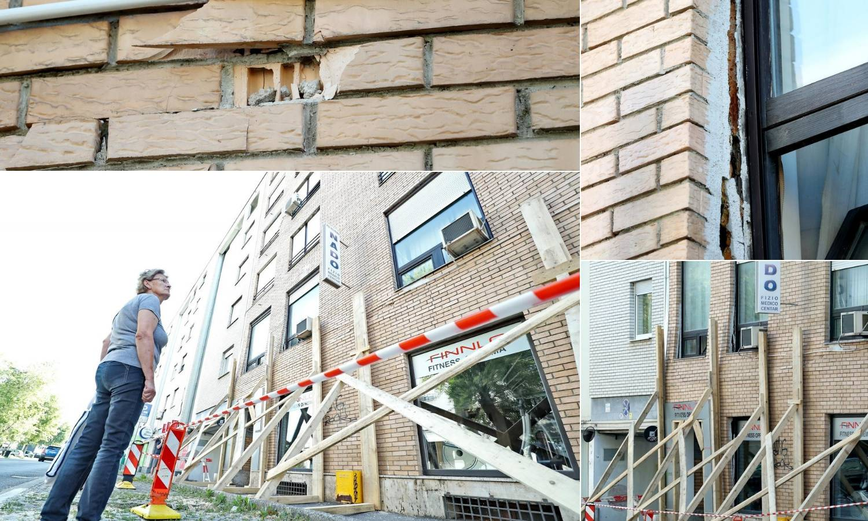 Napukli zid zgrade u Zagrebu vatrogasci osigurali gredama