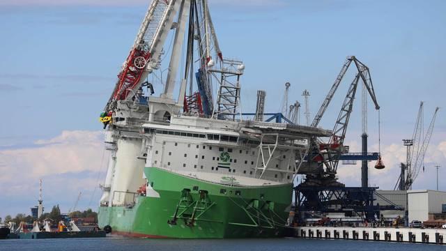 Accident in the overseas port of Rostock