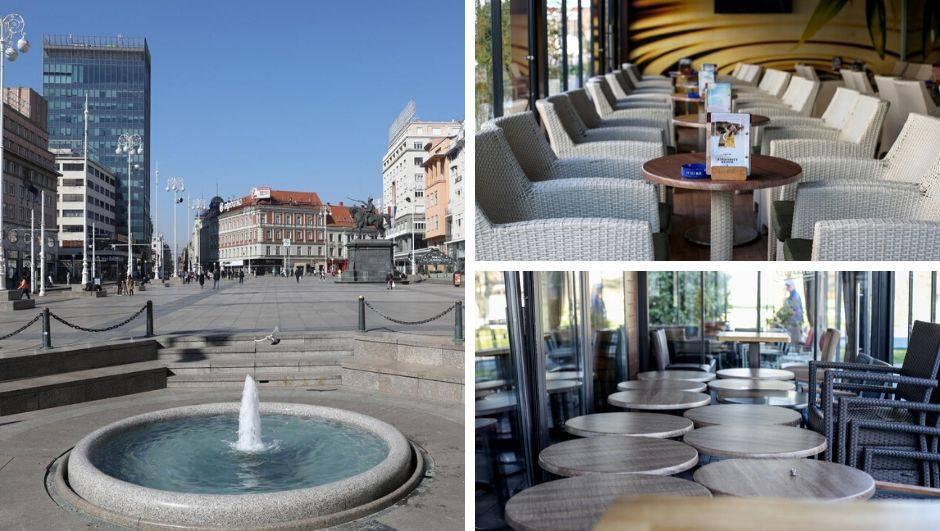 Zatvoreni ugostiteljski objekti u Zagrebu: Kafići i ulice prazni