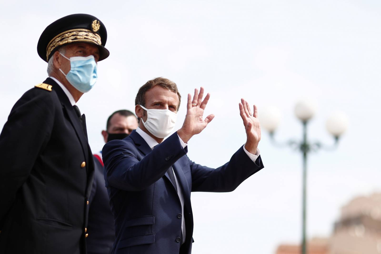 French President Macron visits Corsica