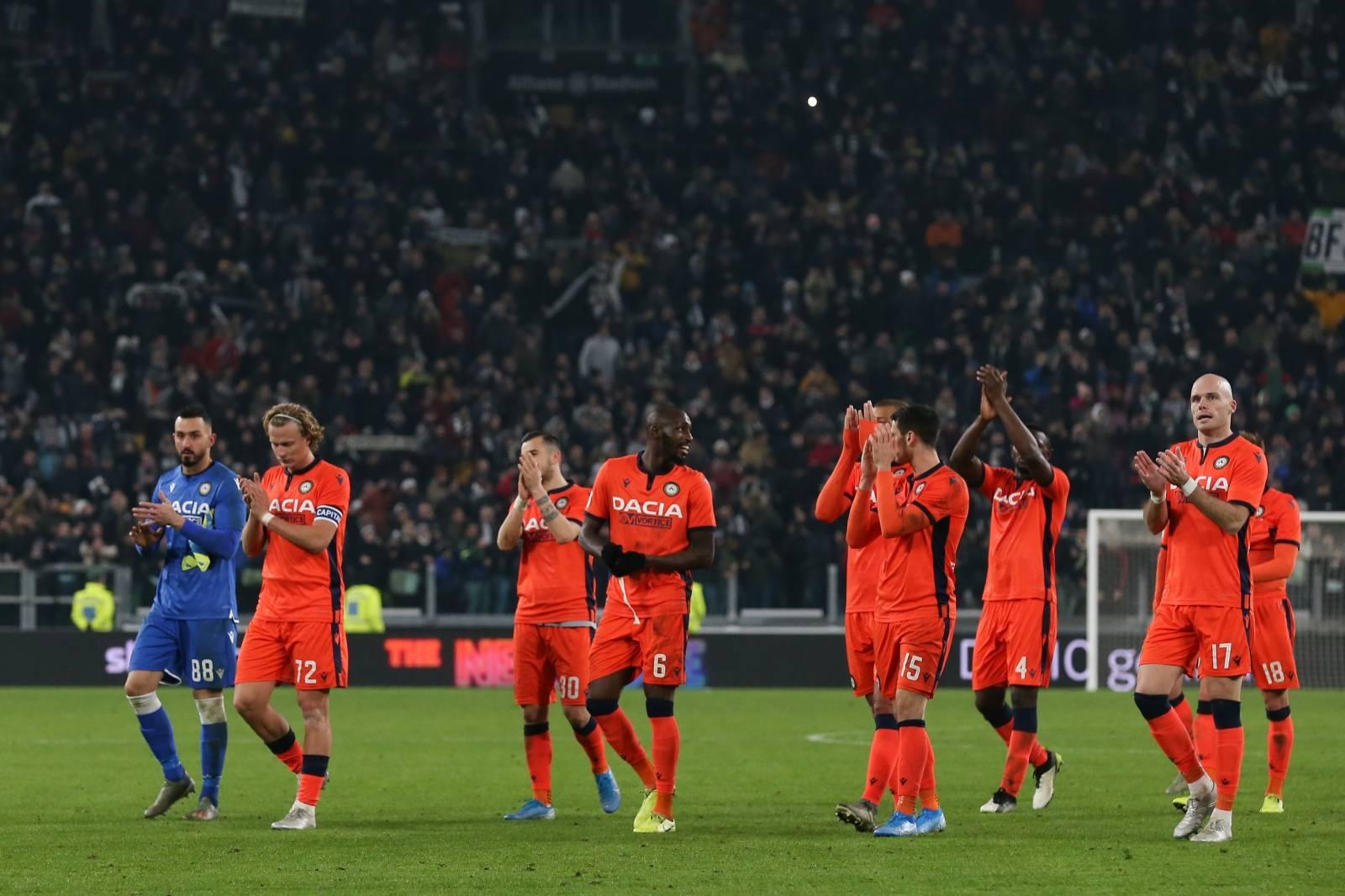 Juventus v Udinese - Coppa Italia -  Round of Sixteen - Allianz Stadium