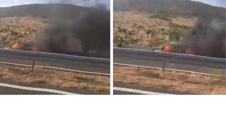 Zapalio se auto na autocesti u vožnji: 'Vatra je sukljala, a dim smo vidjeli na kilometar'