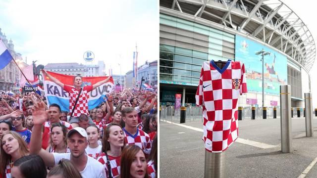 Za Hrvatsku će se opet navijati na Jelačićevom trgu, a naš dres već se vijori ispred Wembleyja