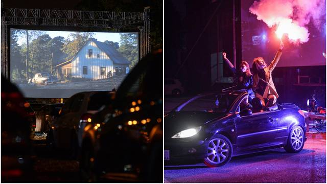 Počela je 'drive in kultura', a kino na Velesajmu okupilo ljude
