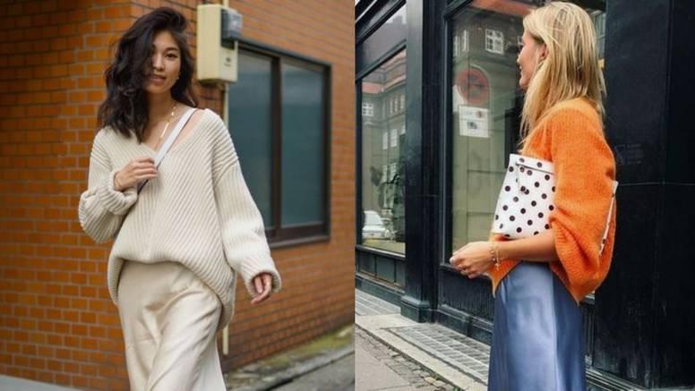 Preselite omiljenu ljetnu suknju u jesen - uz veliku vunenu vestu