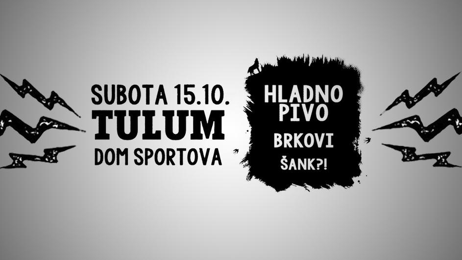 Početak Tulum turneje u Domu sportova, subota 15.listopada