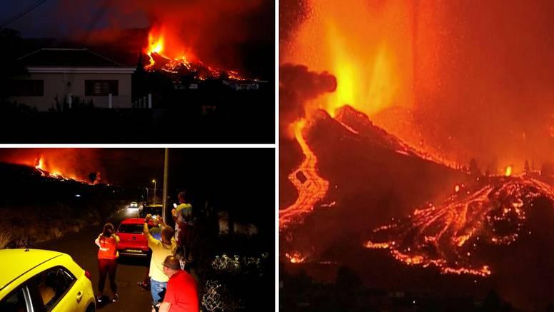 Zastrašujuće snimke: Eruptirao je vulkan nakon 4000 potresa, lava se slijevala prema kućama