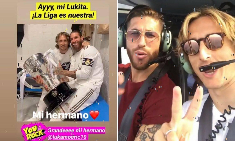 Modrić i Sergio Ramos su braća: Moj Lukita, La Liga je opet naša!