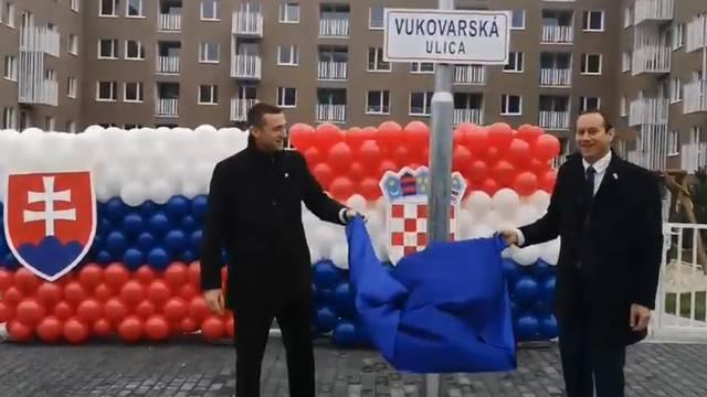 Bratislava dobila Vukovarsku ulicu: Otkrili ploču s imenom