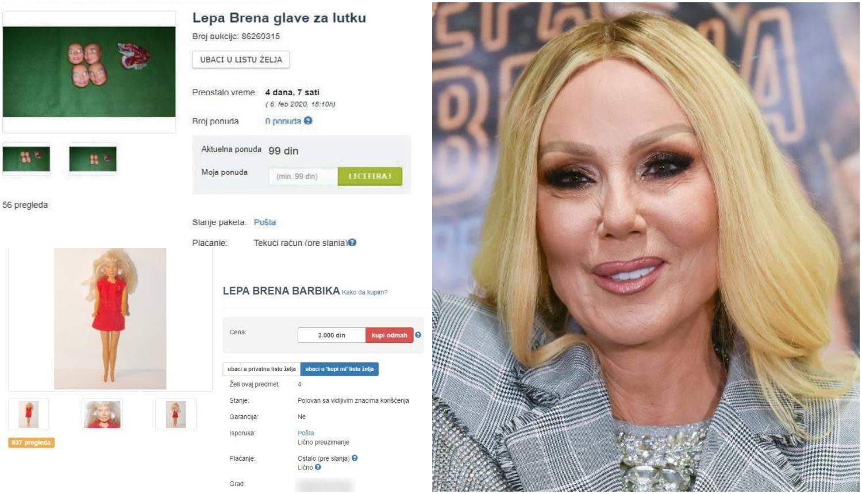 'Glava' Lepe Brene završila na aukciji: Prodaje se za šest kuna