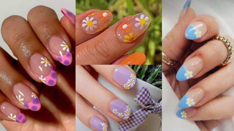Lagane ljetne manikure: Cvijeće i lišće jednostavno je nacrtati