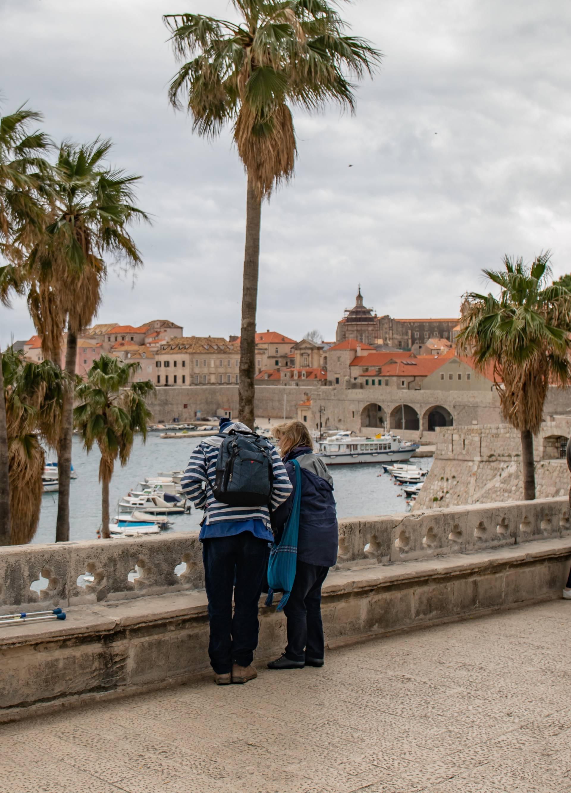 Jako jugo i kiša u Dubrovniku