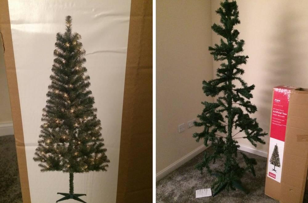 Umjesto lijepog božićnog drvca u kutiji je bilo otužno strašilo