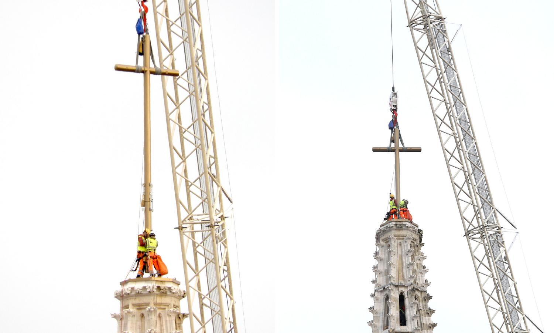 Na Katedralu su se popeli na križu: Lakše je nego s košarom