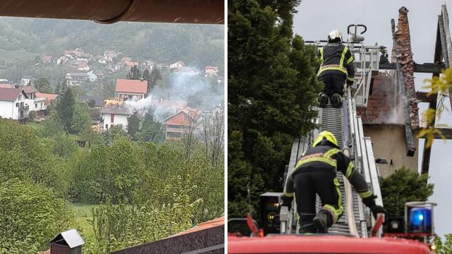U Zagrebu izbio požar krovišta kuće: Nitko nije ozlijeđen