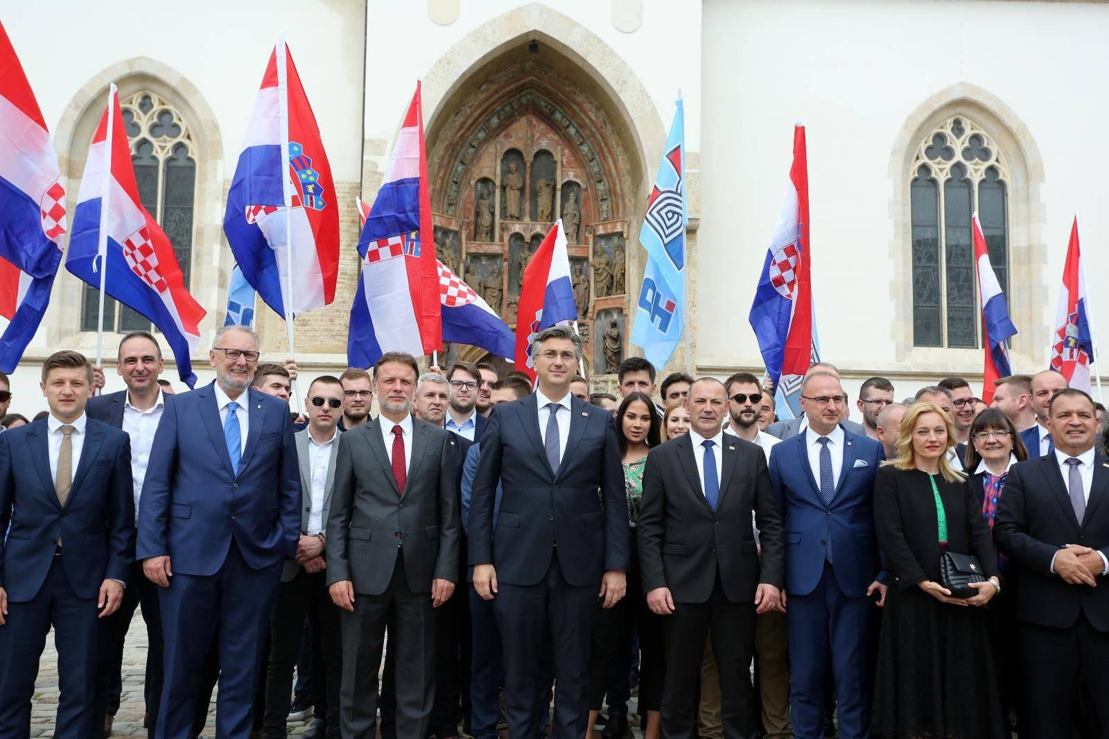 Zagreb: HDZ predao izborne liste DIP-u