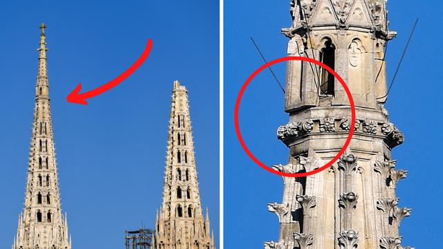 Giganti za toranj: Dvije dizalice ruše opasne dijelove katedrale