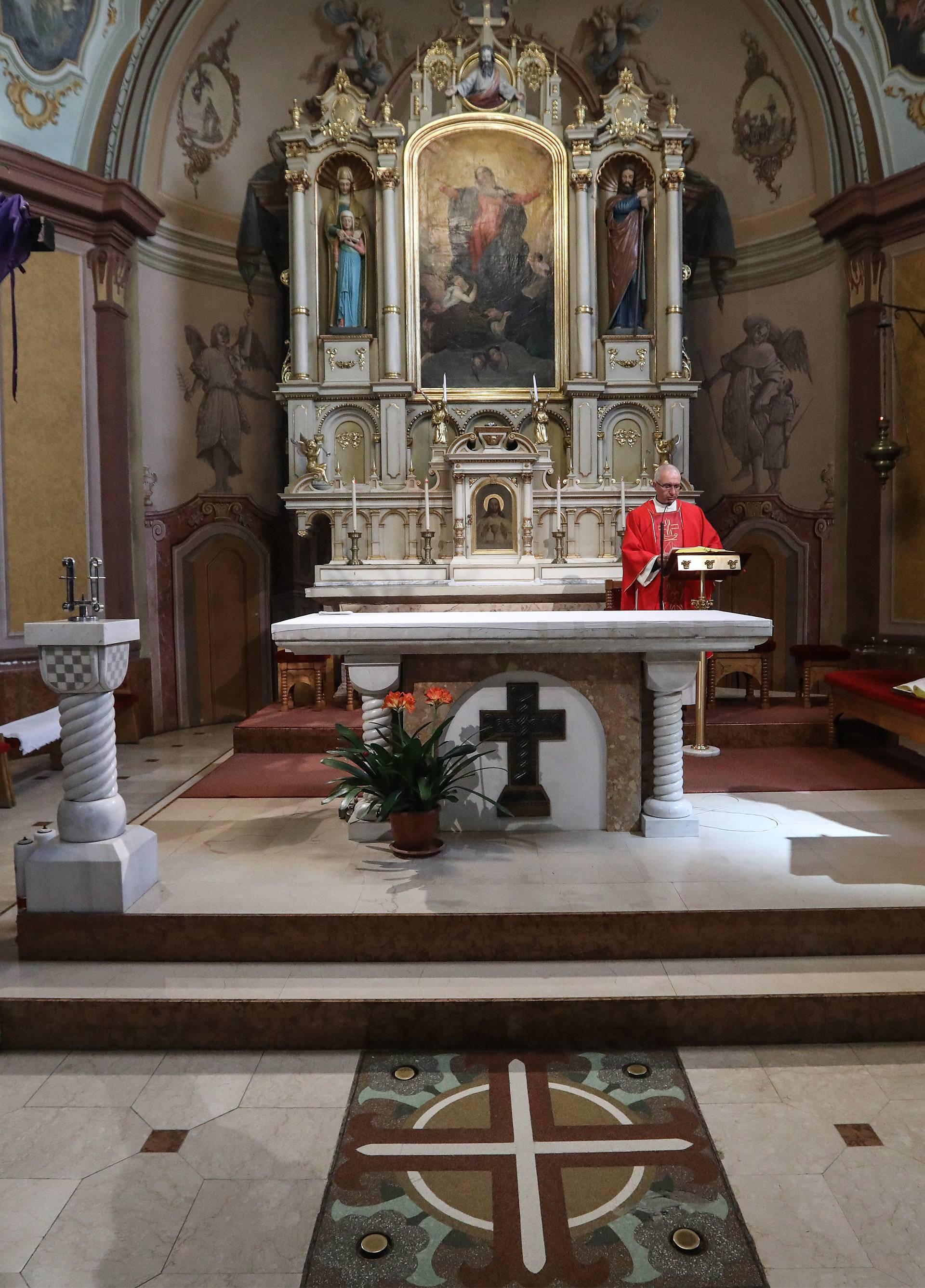 Zagreb: Obred muke gospodnje u crkvi Uznesenja Majke Božje Stenjevečke