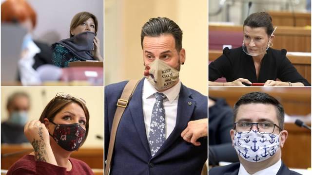 Najluđe zaštitne maske naših saborskih zastupnika: Od čipke, cvijetića i sidra pa do marama