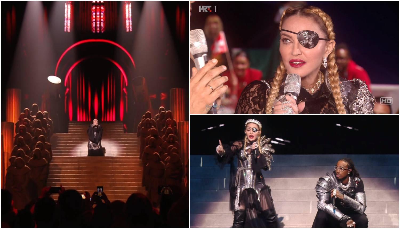 Madonni drhtao glas, na kraju nastupa 'propala' iza pozornice