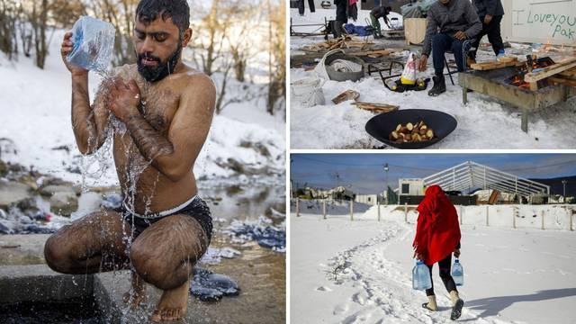 Pakao migranata na granici s Hrvatskom: Peru se u snijegu, nemaju grijanje ni toplu vodu