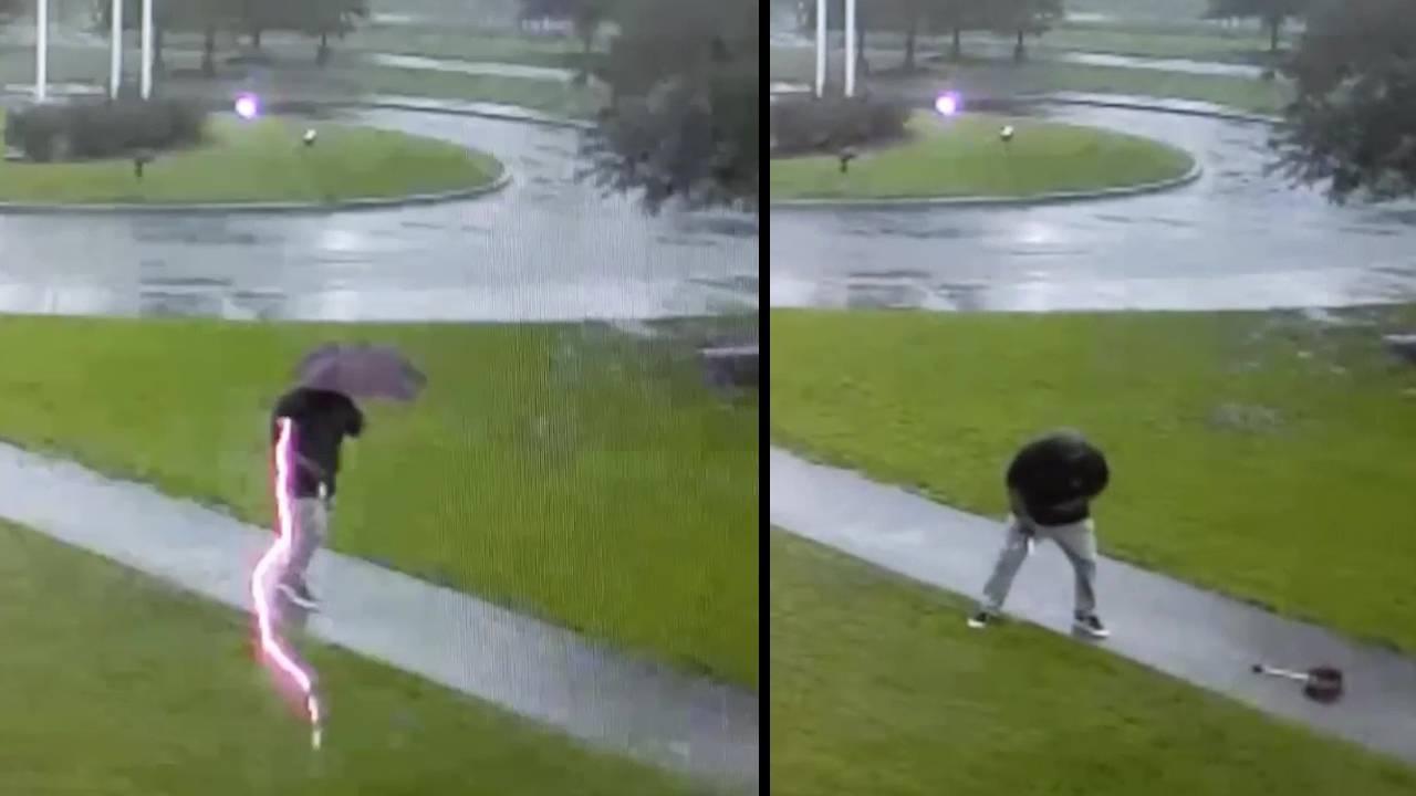 Ovo je bilo za dlaku: Izbjegao udar munje za vrijeme šetnje