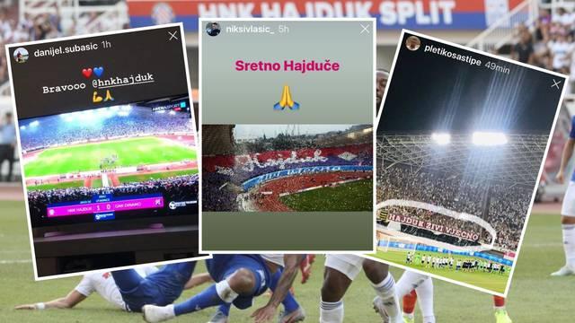 Slijevaju se čestitke: Hajduk su bodrili i Stipe, Suba, Vlašić...